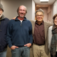 At WCCO Radio with Al Franken who learned of Nancy's spreadsheets