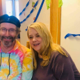 Nancy and Dan in a beret