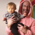 """Dan as Ralphie from """"A Christmas Story"""" while Sawyer tries to escape"""