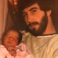 Daddy Dan with newborn Cori 1984