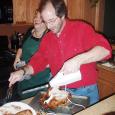 Dan carving the turkey 2006