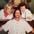 """Dan and his """"angels"""" - Nancy and Corrine - at Easter"""