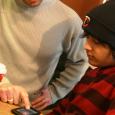 Dan and Matt learning some tech skills