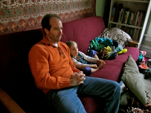 In Portland - Joy with Grandpa Dan