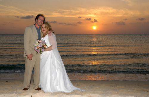 Dan and Nancy Sunset wedding