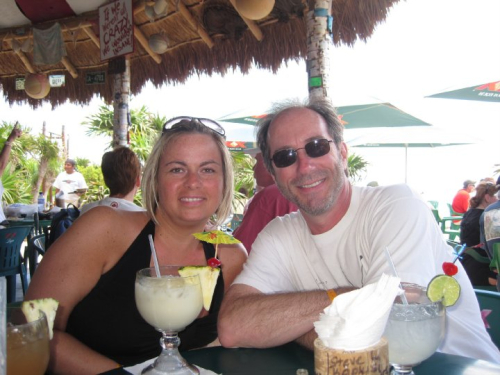 With Shelly G at Coconuts in Cozumel