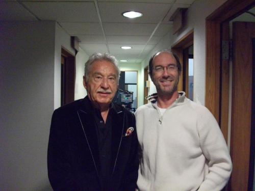 At WCCO Radio with Doc Severinsen - Dan was star-struck for the first time.