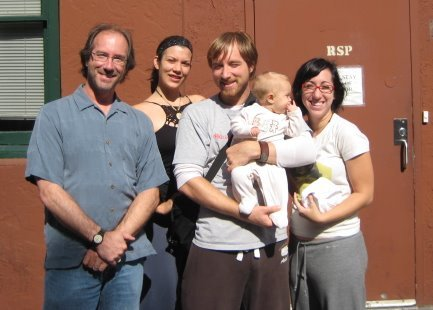 In Portland with Chrissy, Joe, baby Joy, and Cori